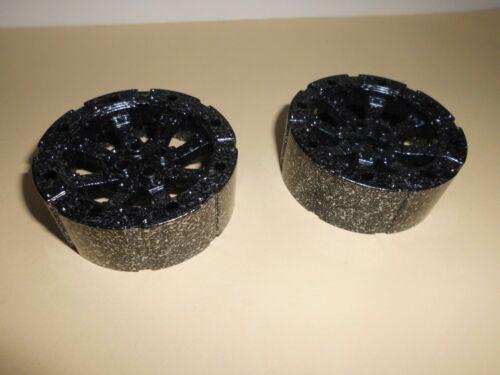 2 Räder 7x7x2 2/3 in gesprenkelt schwarz/silber aus 7036 7037 7038 Lego 55817