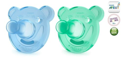 """3m+ PHILIPS AVENT Pacifier Chupete /""""SOOTHIE/"""" SCF194//04-2x Schnuller"""