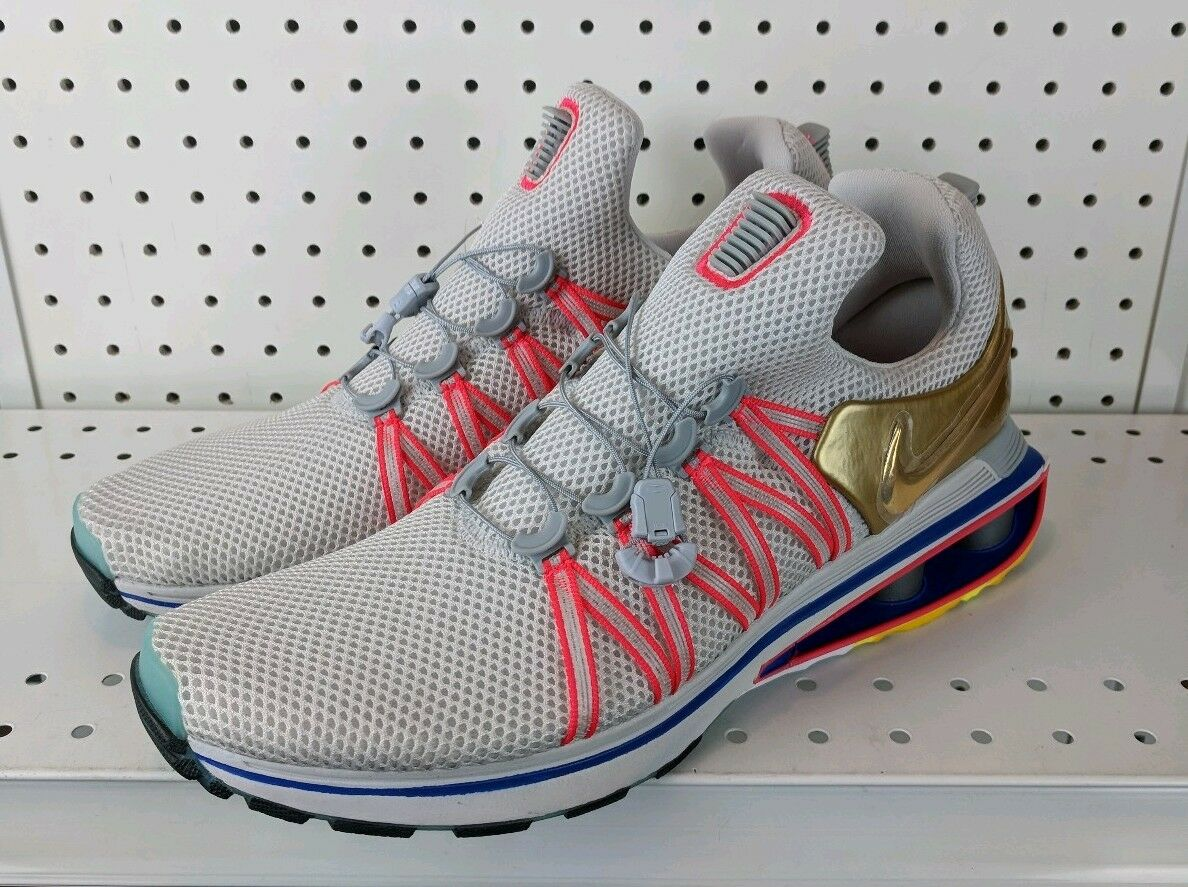 hombre Shox gravedad tamaño Gran 9,5 running zapatos - Gran tamaño Gris Metallic Oro (aq8553-009) c7a5d5