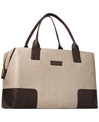 John Varvatos Men Duffle Bag Weekender Gym Travel Overnight Handbag