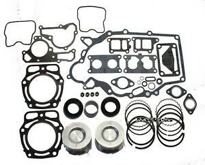 Kawasaki-Mule-Engine-Rebuild-Kit-w-Bearing-Oil-Seals-Standard-Pistons-and-Rings