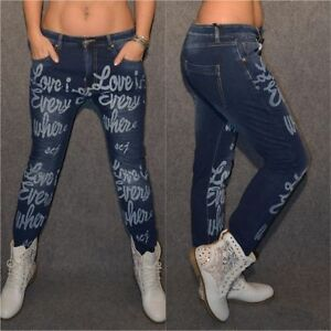 Coole-stretch-JEANS-mit-print-LOVE-is-EVERYWHERE
