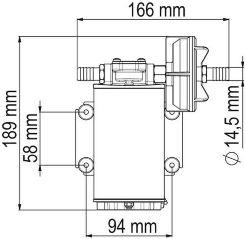 Up9-p fuertes bomba de trasvase 12 L//min-PTFE engranajes-o-ring Viton 24v