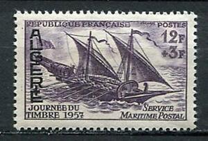 29767a) DEALER STOCK ALGERIE 1957 MNH** Nuovi** Stamp Day - Ship 1v (X10 SETS)