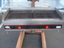 48 Commercial Charbroiler Grill Barbecue Bbq Natural Gas Briquettes