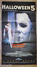 HALLOWEEN 5 :  Michael Myers  ! affiche horreur