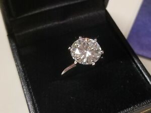 3-00-Carat-9mm-Moissanite-Ring-14K-Gold-by-Charles-amp-Colvard-with-warranty-card