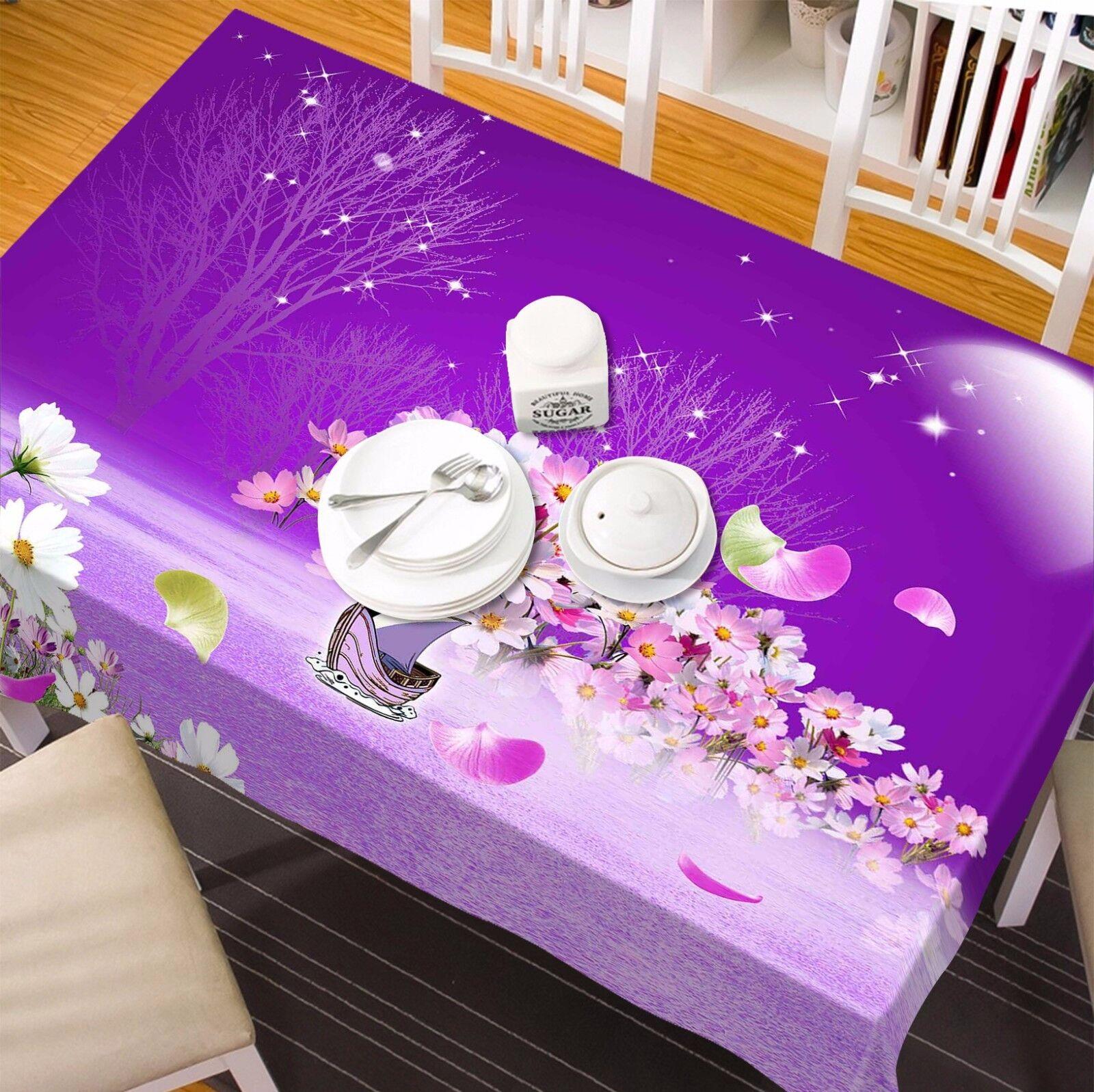 3D lila 4 4 4 Tablecloth Table Cover Cloth Birthday Party AJ WALLPAPER UK Lemon e7336a