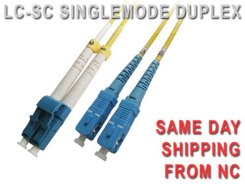 LC-SC SINGLEMODE 8.3//125 um UPC DUPLEX FIBER PATCH CORD 2M   LC-SC-SMUSD-2M