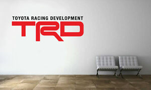 Image Is Loading Toyota Racing Development Logo Wall Decal Trd
