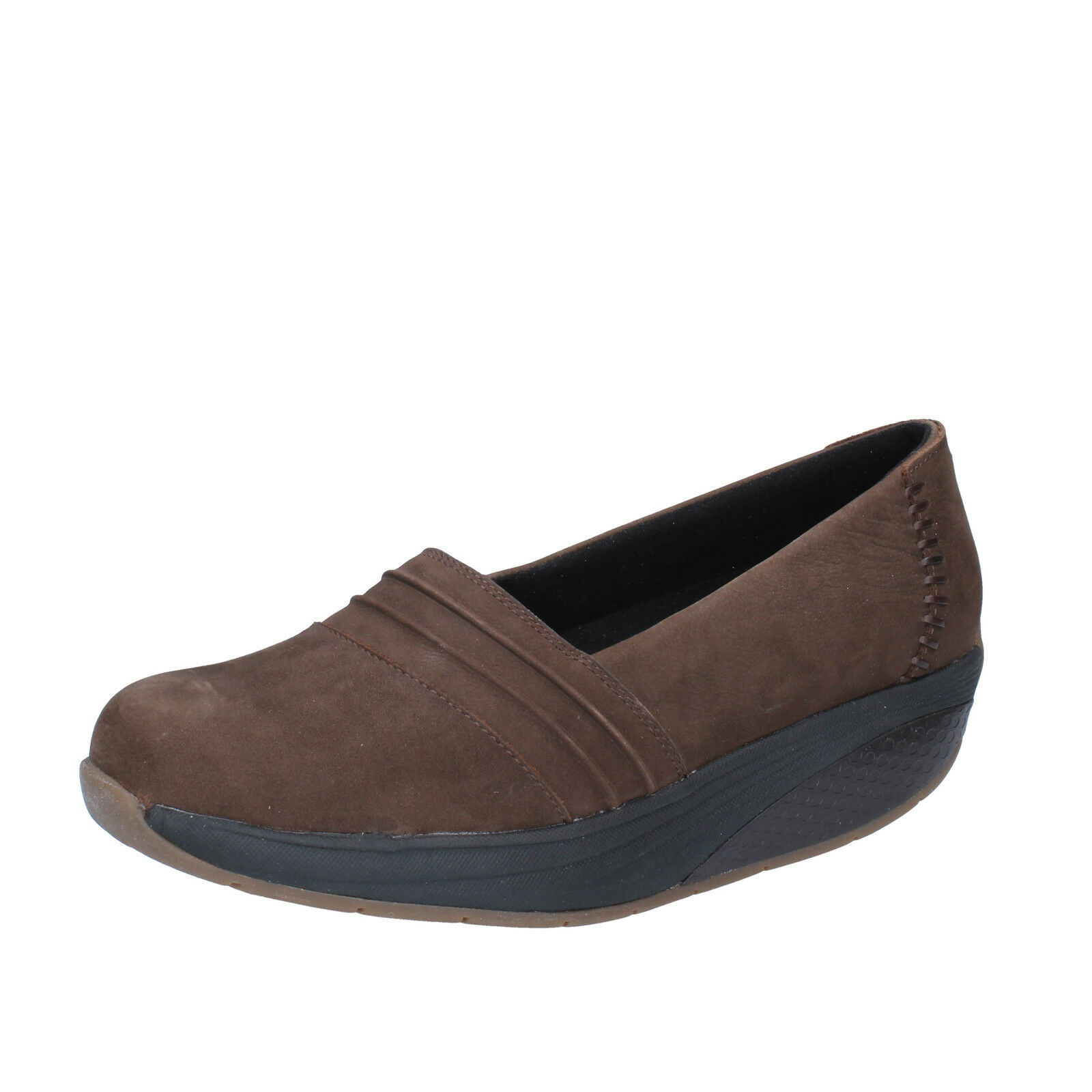 women's shoes MBT 9 / 9,5 () loafers brown nabuk performance BY686-40
