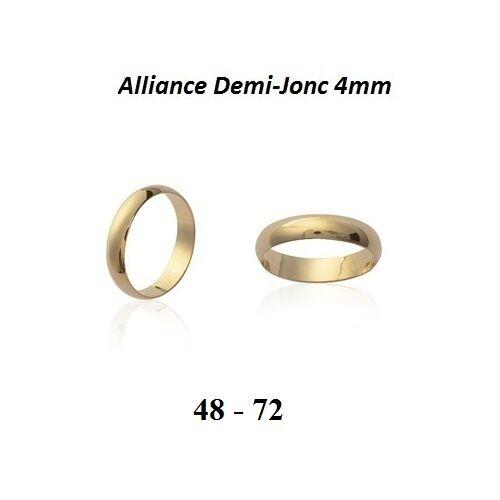 Dolly-Bijoux Alliance T52 Jonc Lisse 4 mm Plaqué Or 18K 5 Microns