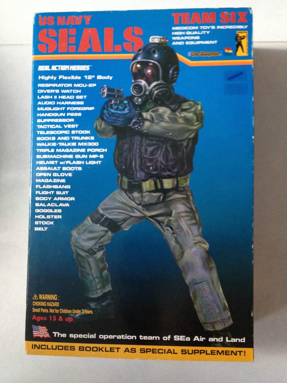 Medicom 12  US Navy Seal 1 6 équipe  six Cro Magnon Real Action Heroes 2001 Action Figure  économiser jusqu'à 50%