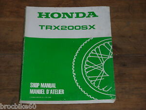Manuel Revue Technique D Atelier Quad Honda Trx 200 Sx 1986-1988 Shop Manual Atv Fqp87ovn-07223549-144001391