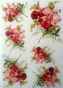 Rice decoupage paper flowers world decoupage sheets image is loading rice decoupage paper flowers world decoupage sheets scrapbooking mightylinksfo