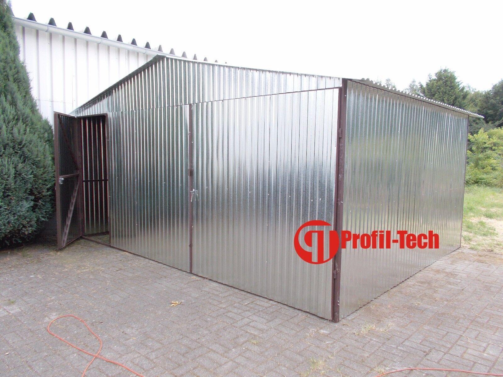 4x6 Blechgarage Fertiggarage Metallgarage LAGERRAUM RAUM KFZ GARAGE