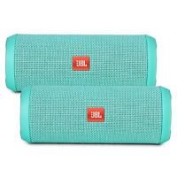Jbl Flip 3 Portable Wireless Bluetooth Speaker Pair (teal)
