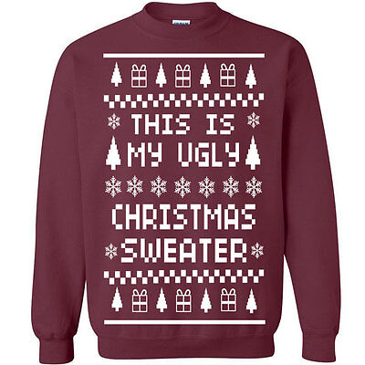 Christmas Sweaters Cute.535 Ugly Christmas Sweater Crew Sweatshirt Holiday Funny Party X Mass Cute New Ebay