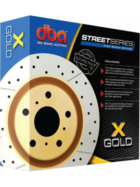 2 x DBA X-Gold Cross-Drilled Slotted Rotor FOR HOLDEN H SERIES HJ (DBA014X)