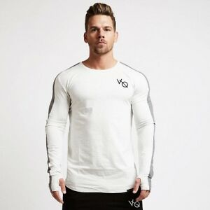 New-Men-Sport-Long-Sleeve-Shirts-Fitness-Training-Casual-Gym-Workout-T-Shirt
