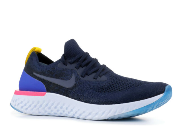 4090ec08741bf Nike Epic React Flyknit College Navy Pink Men Running Shoes SNEAKERS ...