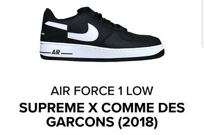 info for bafda 5e68d Supreme x Nike Air Force 1 Low Comme des Garcons Deadstock Size 10.5  CONFIRMED   eBay