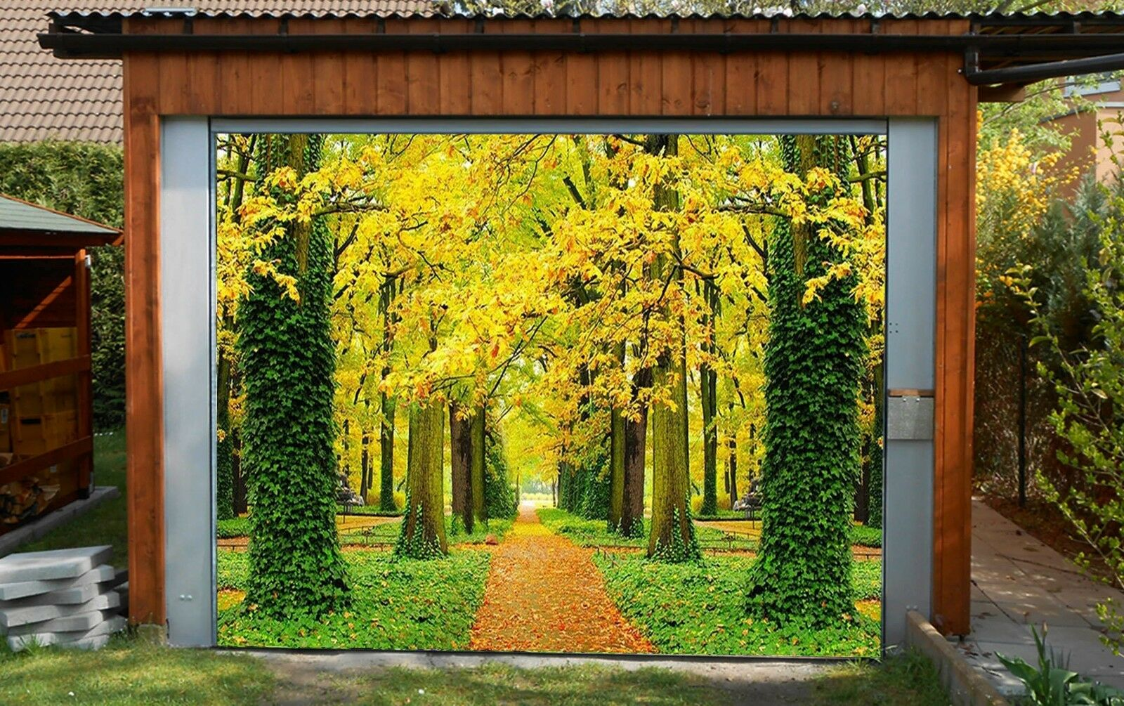3D Dense woods Garage Door Murals Wall Print Decal Wall Deco AJ WALLPAPER AU