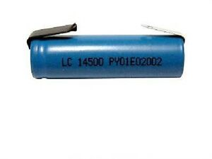 Aa 3 7 Volt 14500 Lithium Ion Battery With Tabs 750 Mah Ebay