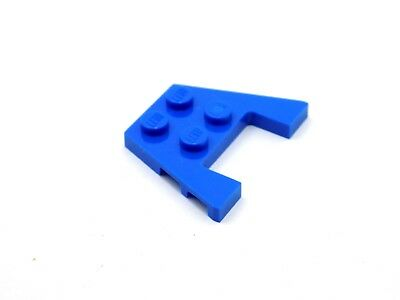 Lego Lot of 10 New Blue Wedge 3 x 4 x 2//3 Cutout Car Pieces Parts