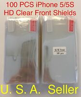100x Iphone 5 5s Se Clear Hd Screen Protectors High Quality Lots X100 For Apple