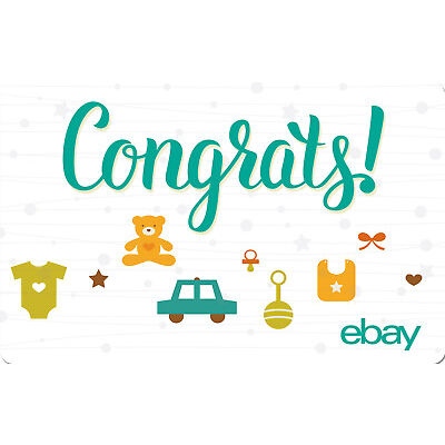 eBay eGift Card - Baby Congrats $25 $50 $100 or $200 - Fast Email Delivery