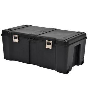 footlockers storage trunk locking rolling trunks chests large travel dorm chest 648260717551 ebay. Black Bedroom Furniture Sets. Home Design Ideas