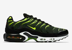 Details about Original Nike Air Max Plus Tuned 1 TN Black Volt Green Trainers Shoes 852630 036