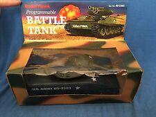 Vintage RADIO SHACK Programmable Battle Tank #60-2383 US Army Sherman Battery Op