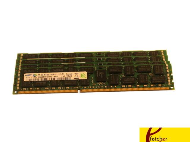 32GB 4x 8GB DDR3 1333MHz PC3-10600E ECC Dimm server Memory Unbuffered RAM