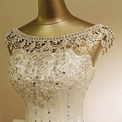 Crystal Wedding Bridal Rhinestone Shoulder Body Chain Collar Necklace Jewellry