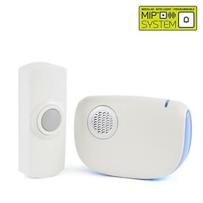 Lloytron B7021WH High Quality 32 Melody B//O Wireless Door Chime with MiPs White