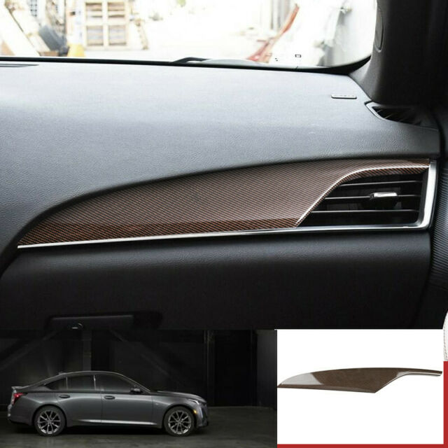 For Cadillac Ct5 2019-2020 Gold Carbon Fiber Console