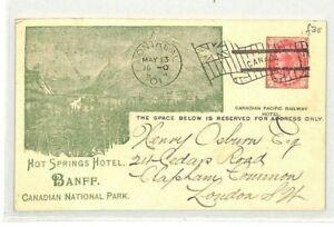 Canada Montréal Papeterie * Hot Springs Hotel * Chemin De Fer 1901 {samwells} Cg154-afficher Le Titre D'origine