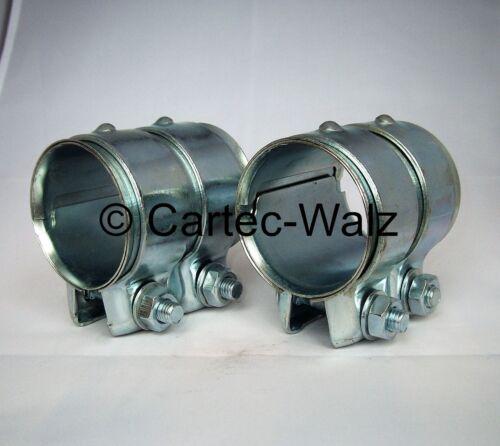 2 pièces raccords de canalisation double bride de 55 x 80 mm pour Audi VW Opel entre autres, BMW