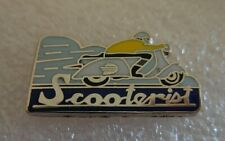 Large Lambretta Roundel metal enamel pin badge mods Scooterist Scooter
