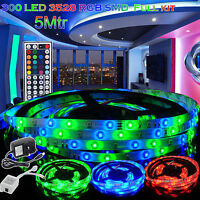 LED Strip Lights Waterproof 5M/10M 5050/3528 RGB SMD + Adapter+ Receiver+ Remote