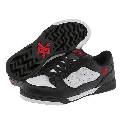 Zoo York Men/'s skateboard shoes Empire 42027 Black White