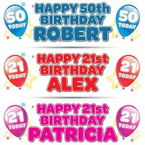 2-PERSONALISED-BIRTHDAY-BANNER-3ft-36-034-x-11-034-1st-18th-21st-30th-40th-ANY-AGE