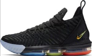 NWB Nike Lebron 16  I Promise  Black Metallic Silver Crimson AO2588-004 Mens Sch
