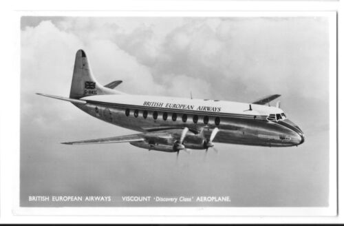 "British European Airways Viscount ""Discovery Class"" Aeroplane RP PPC Unposted"