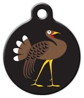 Wild Turkey - Custom Personalized Pet Id Tag For Dog And Cat Collars