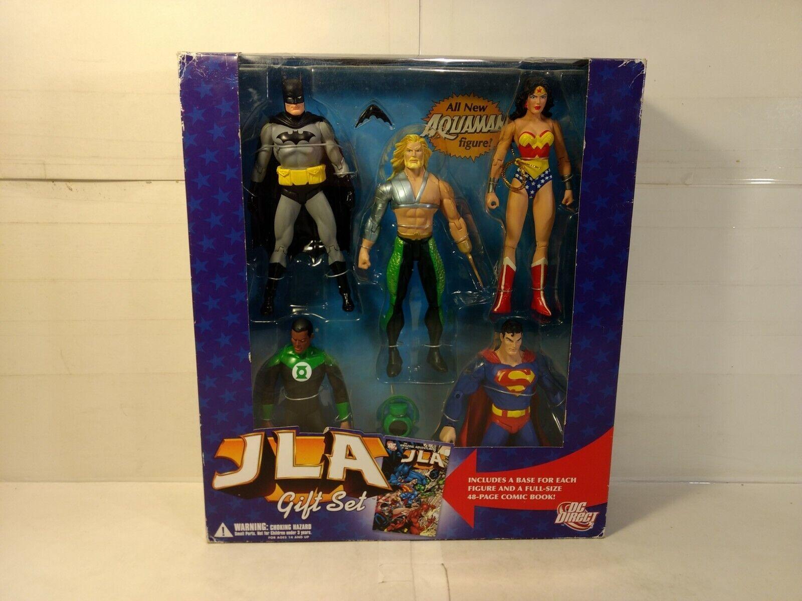 Dc Direct Jla 5 Figura de Acción Set de Regalo Batman Aquaman súperman T3132