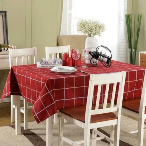 Vintage Tablecloth British Style Square//Rectangular Red Plaid Table Cover Decor