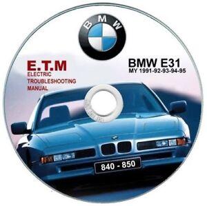 bmw 850 (e31) e t m electric troubleshooting manual schematicsimage is loading bmw 850 e31 e t m electric troubleshooting manual schematics